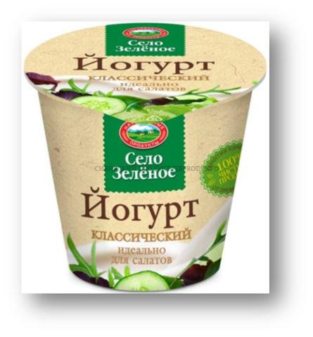 «Село зеленое» йогурт