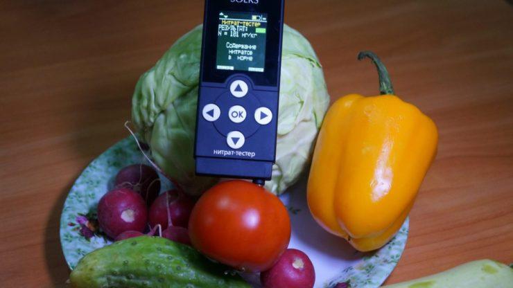 Проверка овощей нитрат-тестером