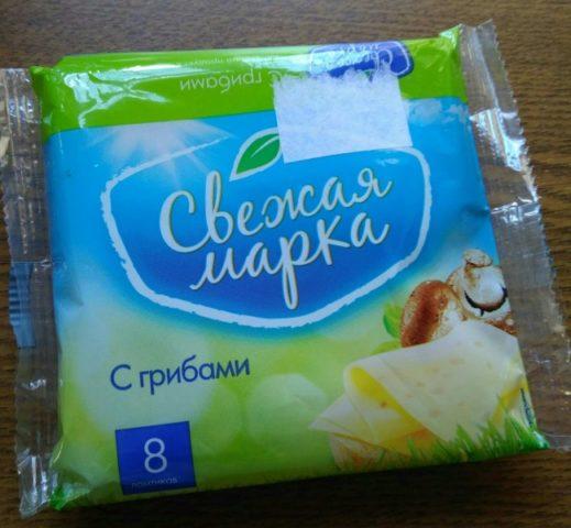 плавленный сыр «Свежая марка» с грибами