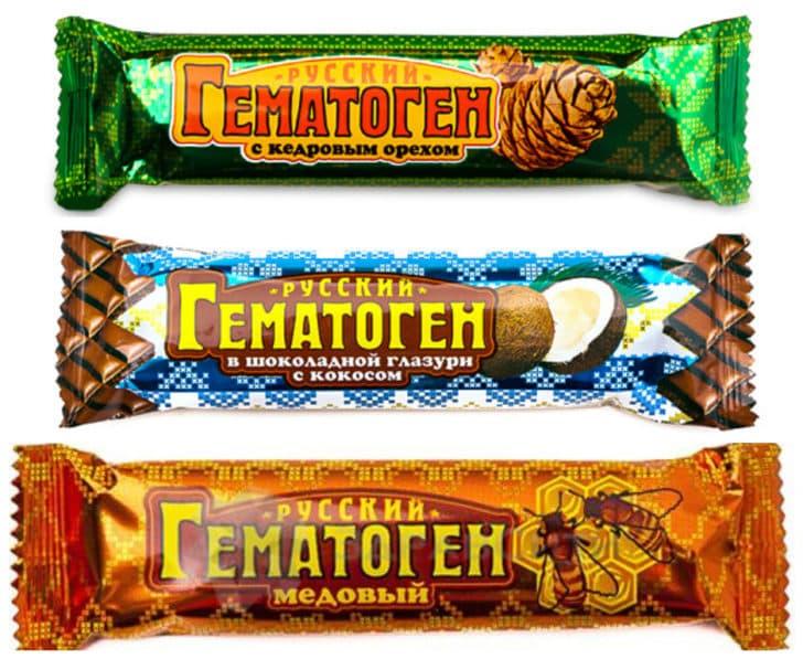 Гематоген с разными вкусами