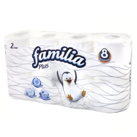 Двухслойная туалетная бумага Familia