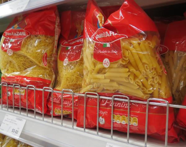 Макароны в супермаркете