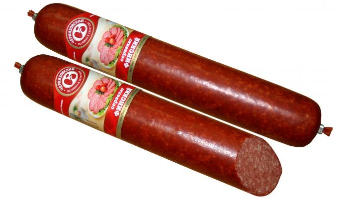 Колбаса нарезная сервелат производства «Черкизовский мясокомбинат»