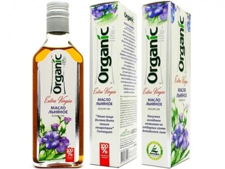 Льняное масло российского бренда Organic Life