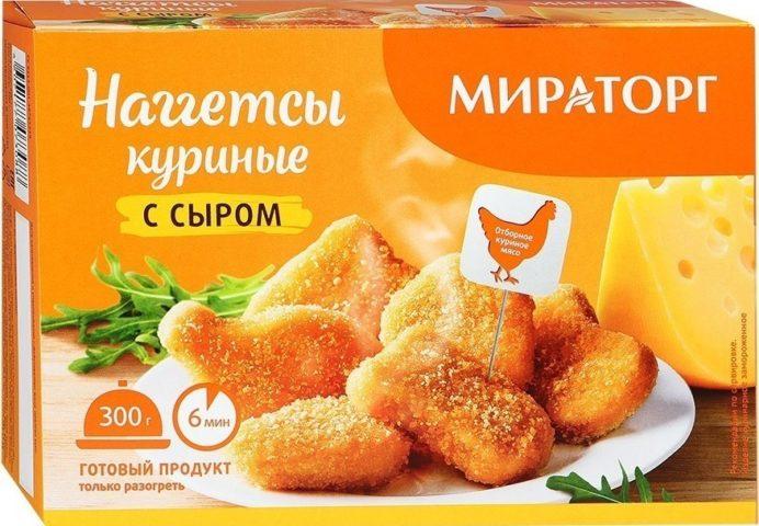 """Наггетсы куриные """"Мираторг с сыром"""""""