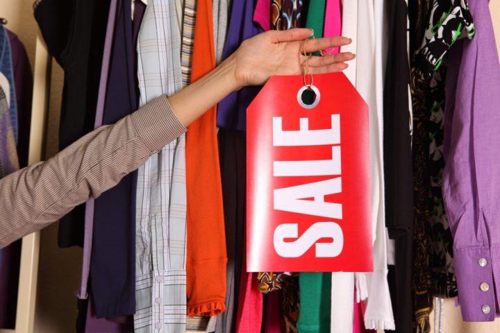 Одежда, надпись sale