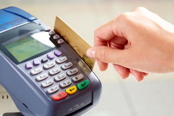 Оплата картой в терминале