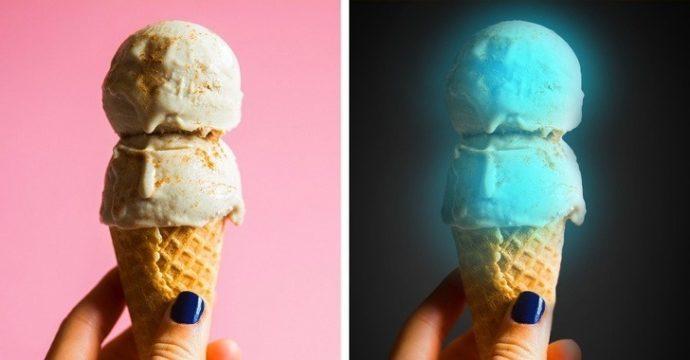 Светящееся мороженое из медузы
