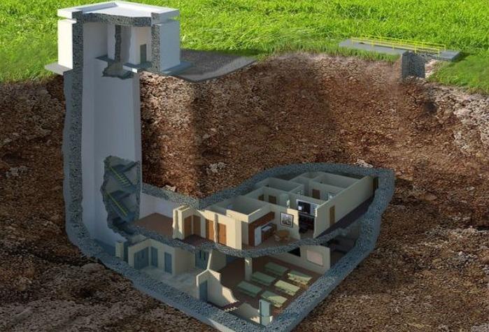 Схема постройки подземного укрытия