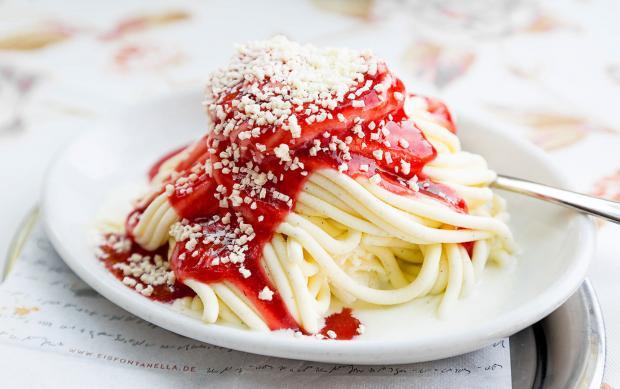 Мороженое спагетти