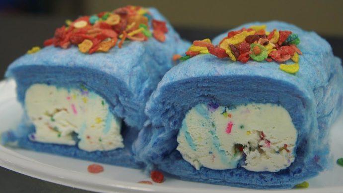 Мороженое в сладкой вате