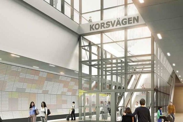 Проект нового вокзала Корсваген, Швеция