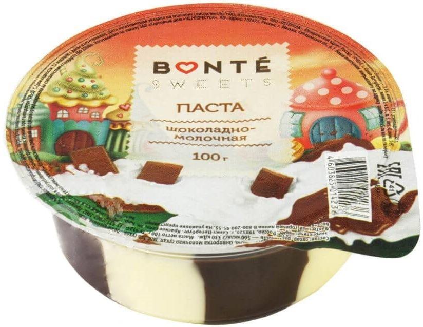 Шоколадно-молочная паста Bonte