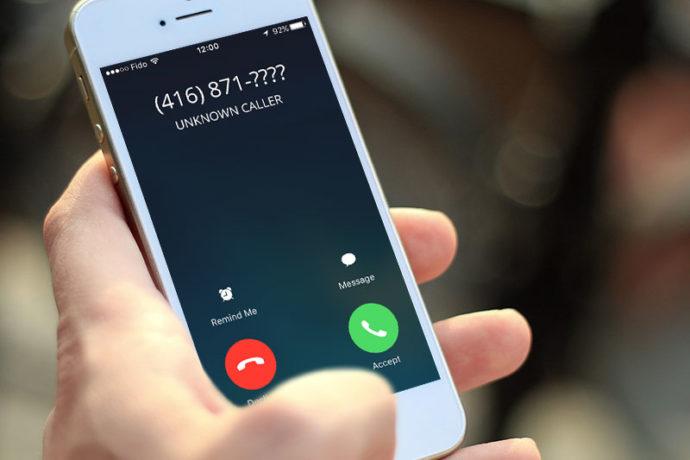 Неизвестный номер на телефоне