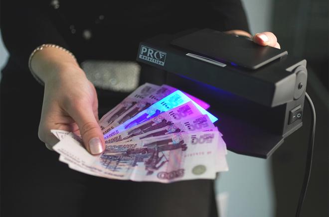 Проверка банкнот на детекторе