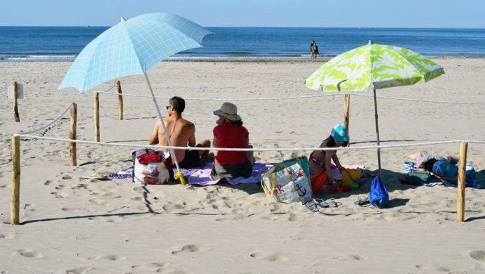 Огороженное место на пляже