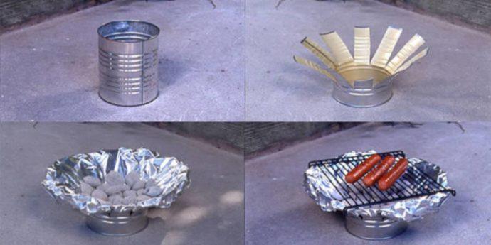 Гриль из консервной банки - пошаговое фото изготовления