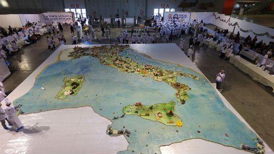 Торт в виде карты Италии