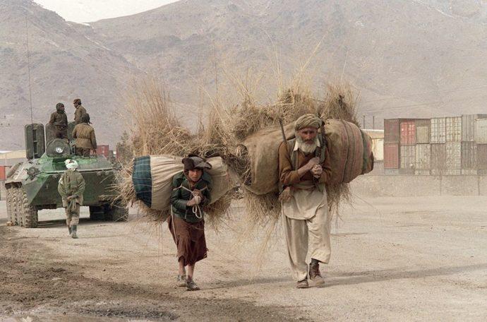Местные жители в Афганистане