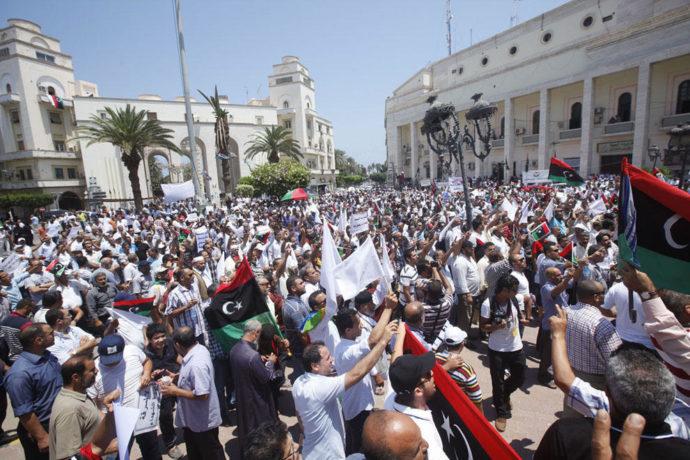 Митинги в Ливии