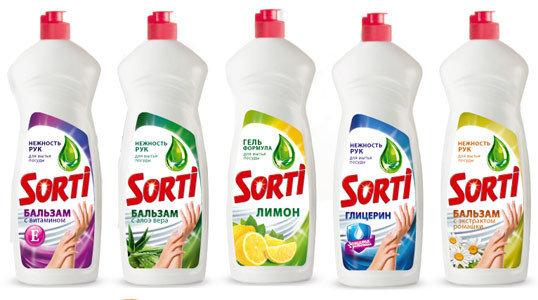 Средство для мытья посуды Sorti