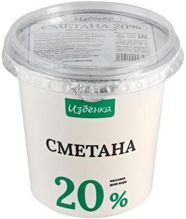 Сметана «Избенка» 20%
