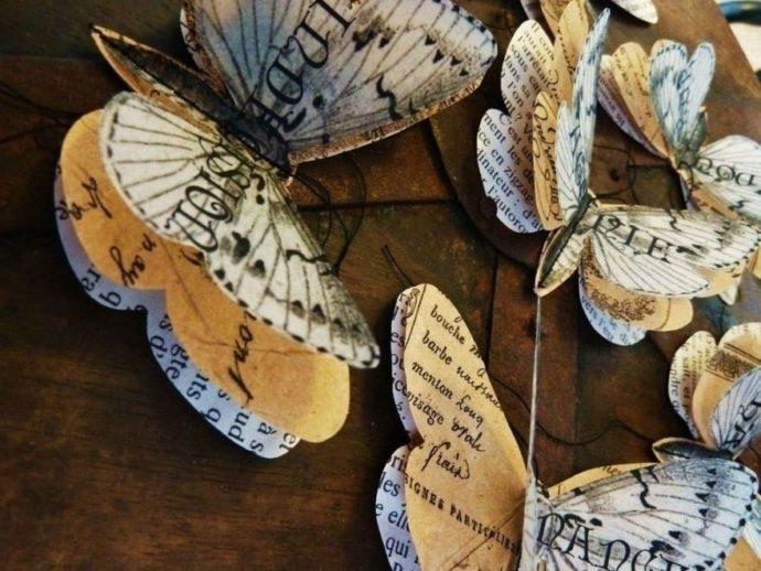 Самодельные бабочки из газет