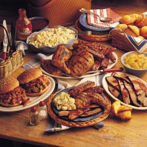 Вредная еда на столе