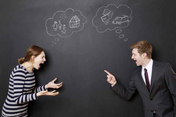 Пара выясняет отношения