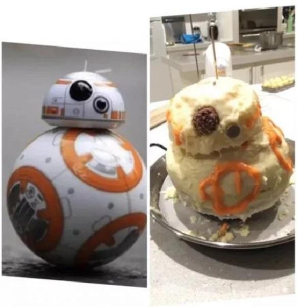 Торт в форме робота