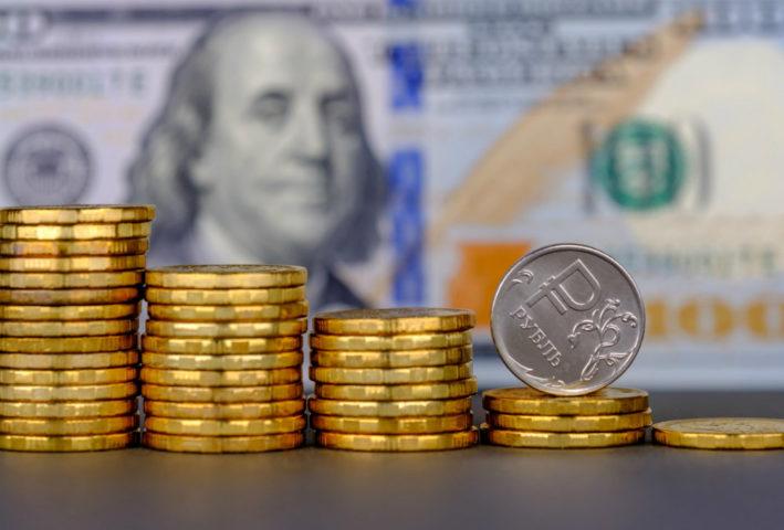 Рубль на фоне доллара
