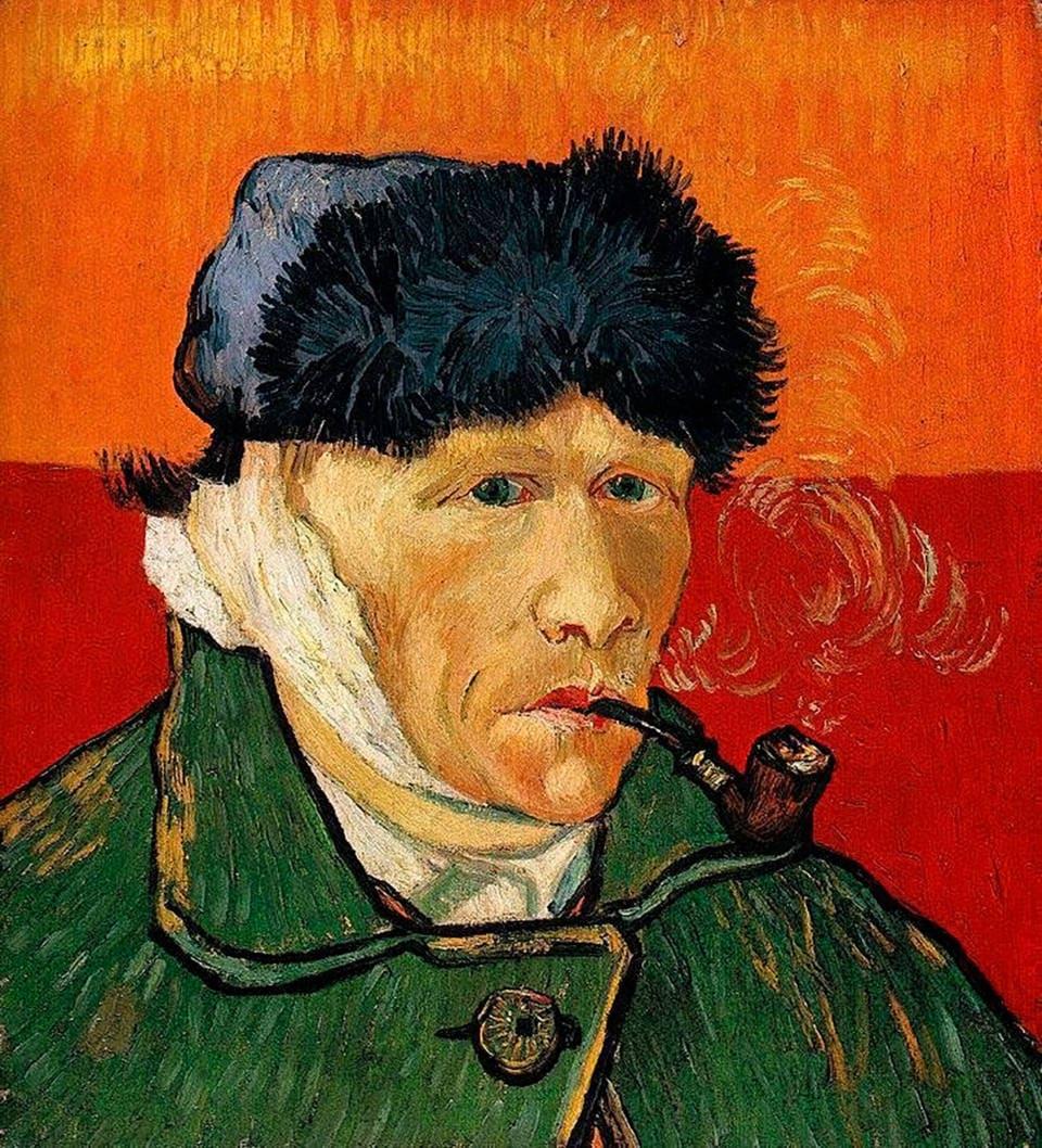 """Ван Гог """"Автопортрет с отрезанным ухом и трубкой"""""""