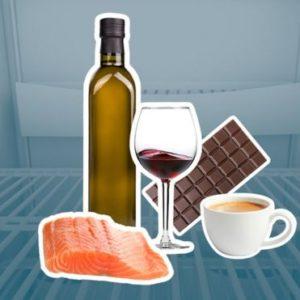 Рыба, алкоголь, шоколад и кофе