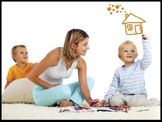 Мама с детьми мечтает о доме