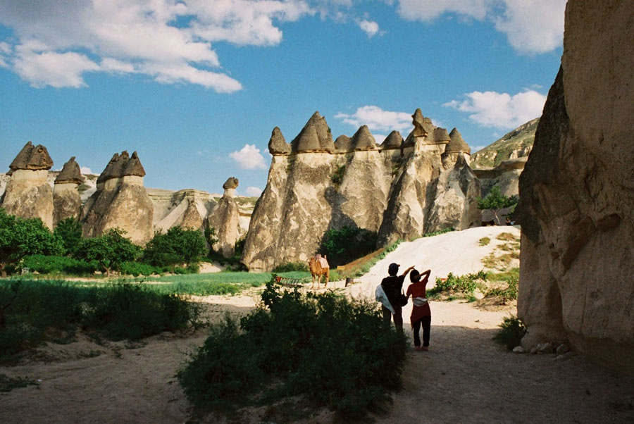 Горные пейзажи Каппадокии
