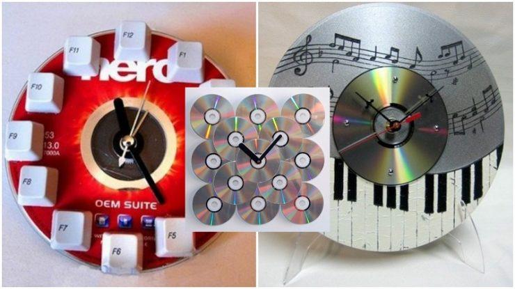 Часы из CD-дисков