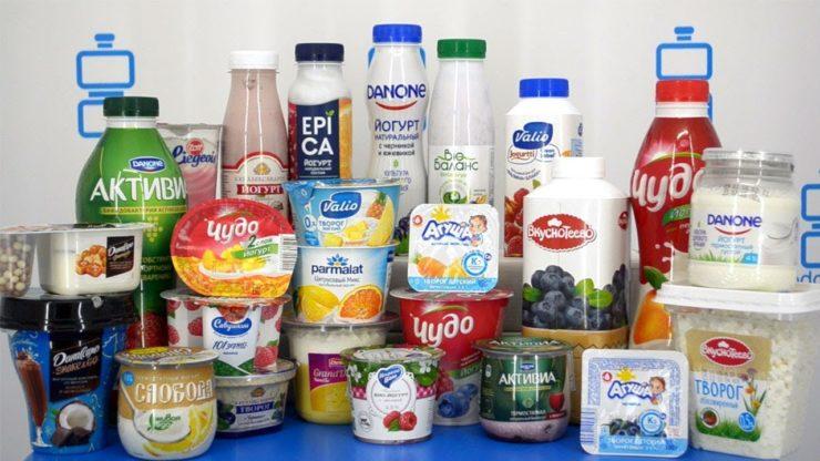 Йогурты от разных производителей