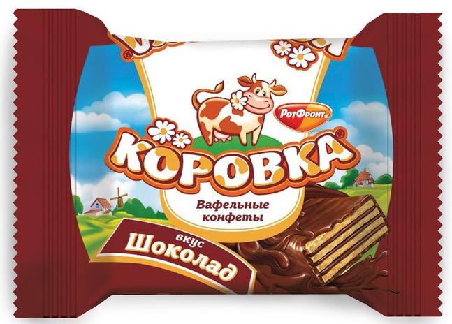 """Вафельные конфеты """"Коровка"""""""