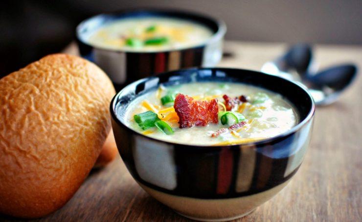 Суп в пиалах