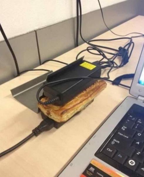 Бутерброд между блоками питания