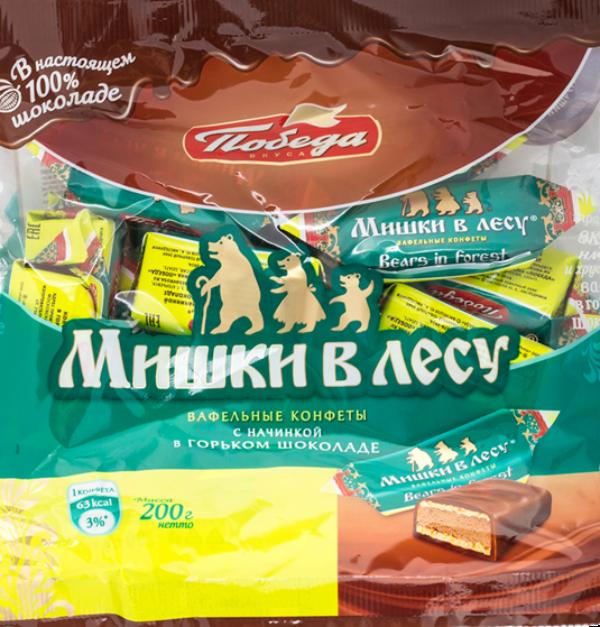 """Вафельные конфеты """"Мишки в лесу"""""""