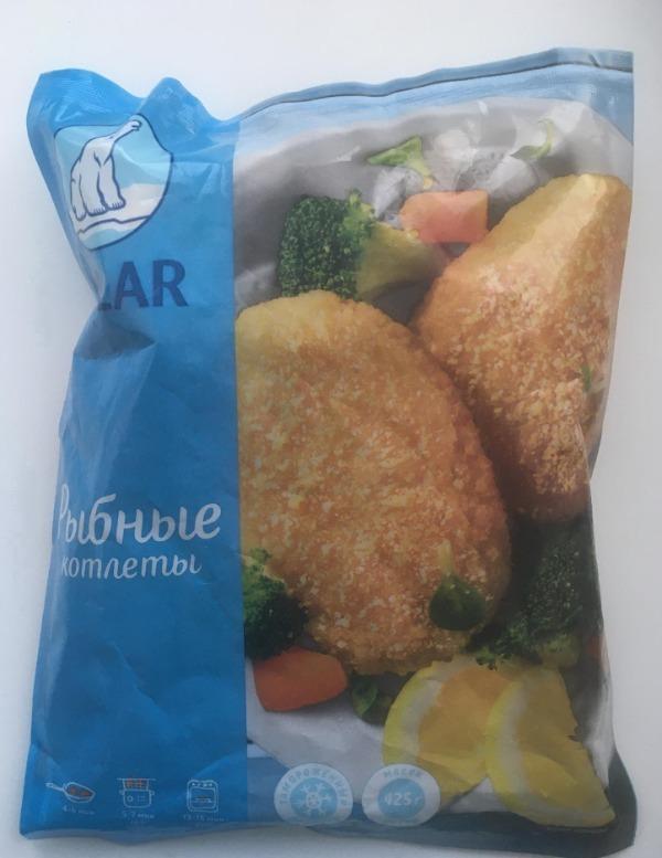 Рыбные котлеты в упаковке