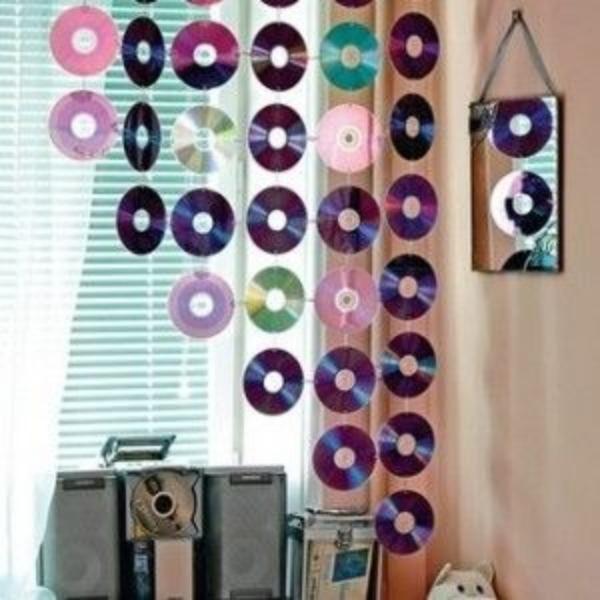 Жалюзи из CD-дисков