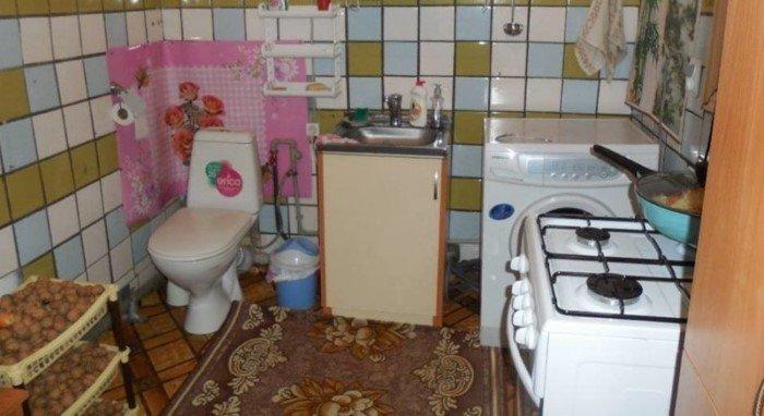 Унитаз на кухне