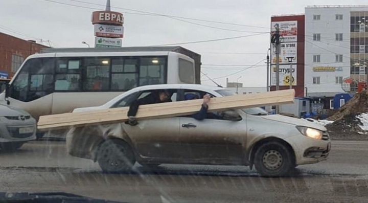 Перевозка негабаритного груза на легковом авто