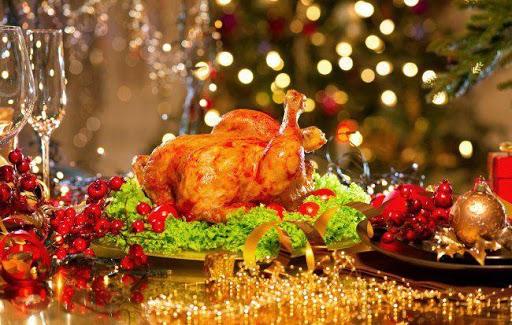 Жареная курочка на новогоднем столе