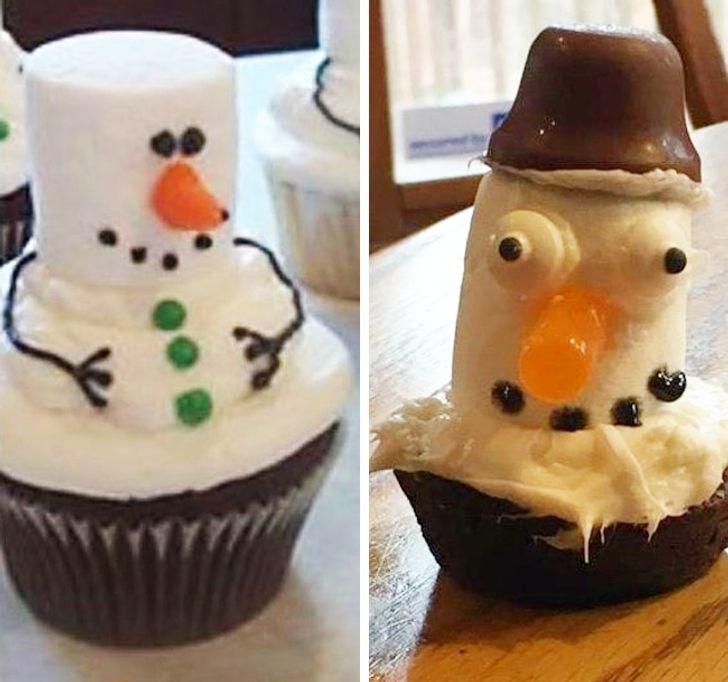 """Торт """"Снеговик"""" ожидание и реальность"""