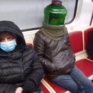 Прикольная маска от коронавируса