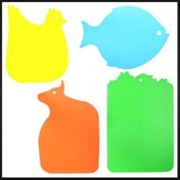 Разноцветные кухонные доски