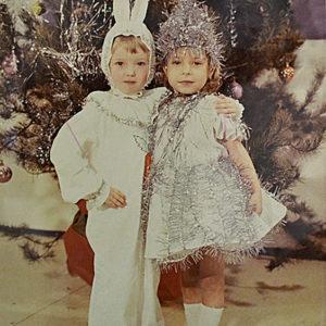 Советские дети в новогодних костюмах